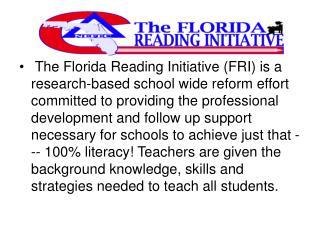 A collaborative effort between Just Read, Florida, North East ...