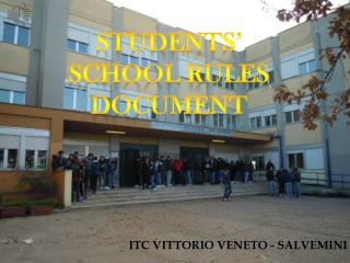STUDENTS' school rules Document