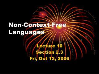 Non-Context-Free Languages
