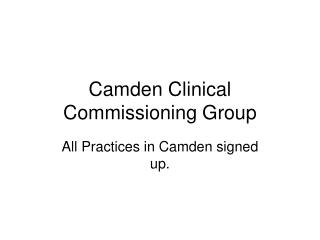 Camden Clinical Commissioning Group