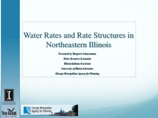 Water Rates and Rate Structures in Northeastern Illinois