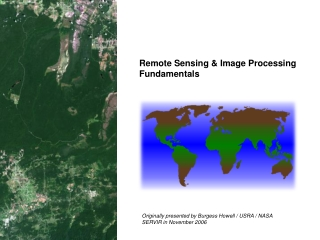 Satellite Remote Sensing Whats it all about