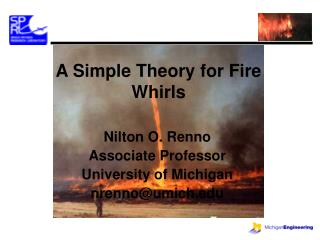 A Simple Theory for Fire Whirls