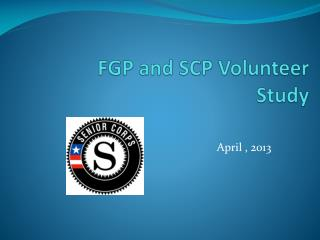 FGP and SCP Volunteer  Study