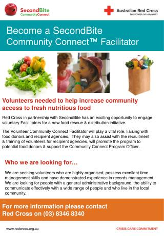 Volunteers needed to help increase community access to fresh nutritious food