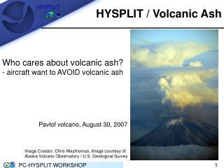 HYSPLIT / Volcanic Ash