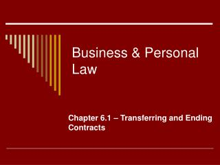 Business & Personal Law