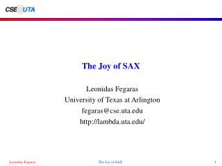 The Joy of SAX