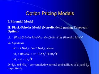 Option Pricing Models