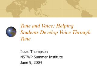 Tone and Voice: Helping Students Develop Voice Through Tone