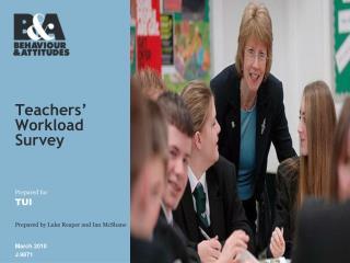 Teachers'  Workload Survey