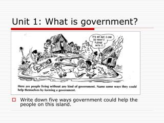 Unit 1: What is government?