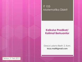 IT 105 Matematika Diskrit