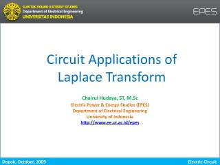 Circuit Applications of Laplace Transform