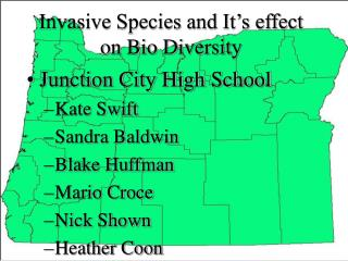 Invasive Species and It's effect on Bio Diversity