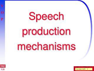 Speech  production mechanisms