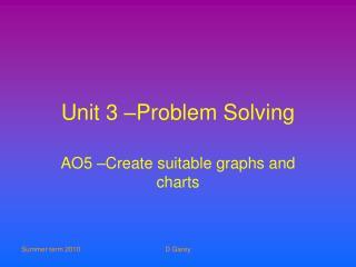 Unit 3 –Problem Solving