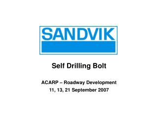 Self Drilling Bolt