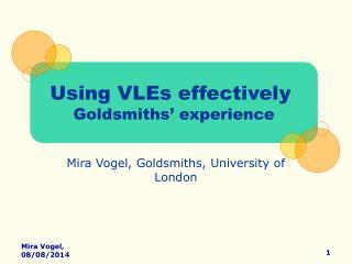 Mira Vogel, Goldsmiths, University of London