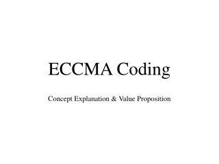 ECCMA Coding