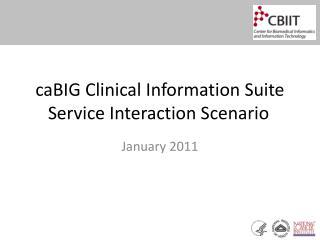 caBIG  Clinical Information Suite Service Interaction Scenario