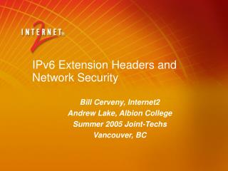 IPv6 Extension Headers and Network Security
