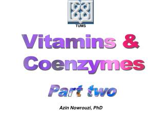 Vitamins &  Coenzymes