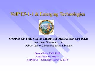 OFFICE OF THE STATE CHIEF INFORMATION OFFICER Enterprise Services Office