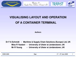 VISUALISING LAYOUT AND OPERATION        OF A CONTAINER TERMINAL