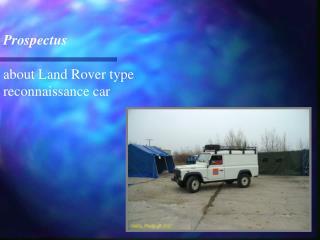 Prospectus  about Land Rover type reconnaissance car