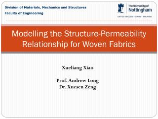 Modelling the Structure-Permeability Relationship for Woven Fabrics