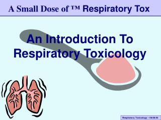 An Introduction To Respiratory Toxicology