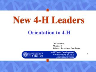 New 4-H Leaders