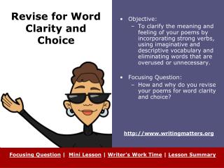 Revise for Word Clarity and Choice
