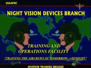 TRAINING AND OPERATIONS FACILITY
