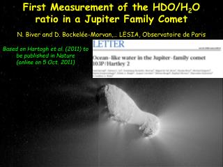 First Measurement of the HDO/H 2 O ratio in a Jupiter Family Comet