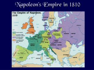 Napoleon�s Empire in 1810