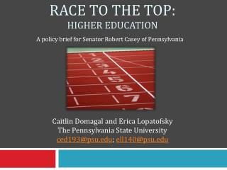 Race to the Top: Higher education
