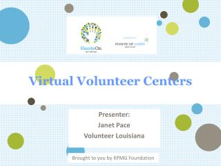 Virtual Volunteer Centers