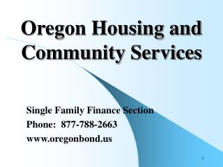 Oregon Housing and