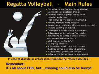 Regatta Volleyball   –   Main Rules