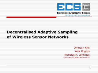 Decentralised Adaptive Sampling  of Wireless Sensor Networks