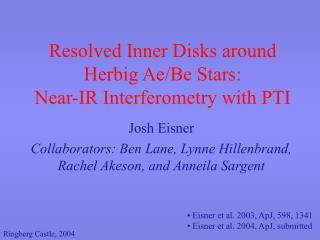 Resolved Inner Disks around Herbig Ae/Be Stars:  Near-IR Interferometry with PTI