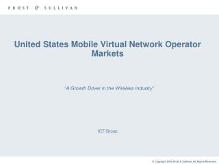 United States Mobile Virtual Network Operator Markets