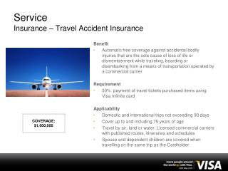 Service Insurance – Travel Accident Insurance