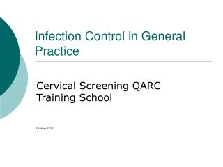 Infection Control in General Practice