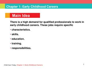Chapter 1: Early Childhood Careers