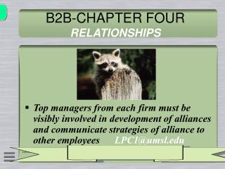 B2B-CHAPTER FOUR  RELATIONSHIPS