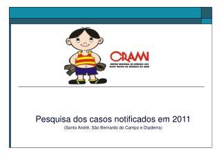 Pesquisa dos casos notificados em 2011 (Santo André, São Bernardo do Campo e Diadema)