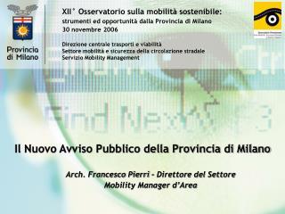 XII° Osservatorio sulla mobilità sostenibile: strumenti ed opportunità dalla Provincia di Milano